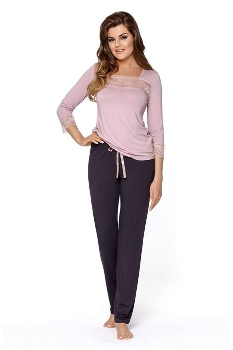 Babella Dámské pyžamo Hortensia růžovofialová XL