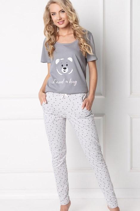 Aruelle Dámské pyžamo Huggy Bear šedá XL