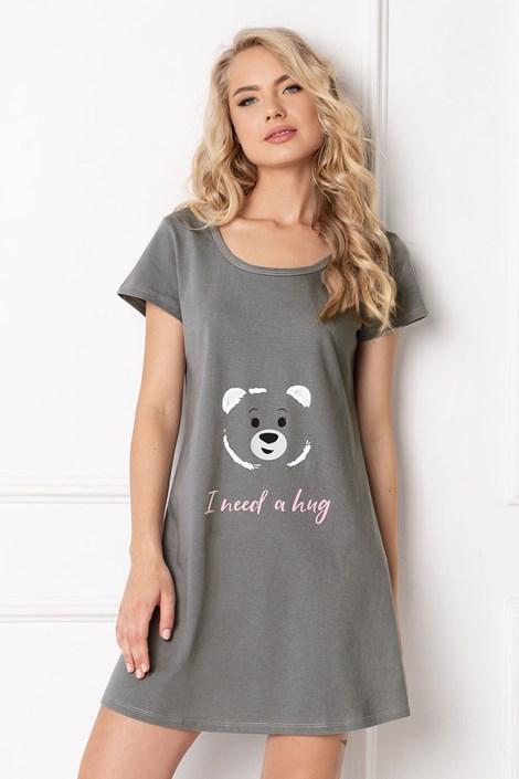 Aruelle Noční košilka Huggy Bear šedá XL