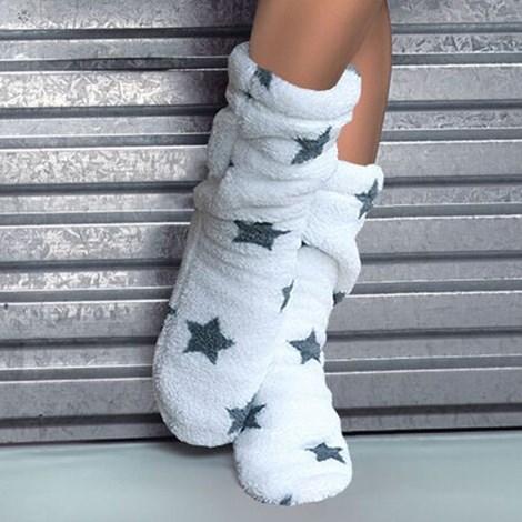 L -  L Hřejivé ponožky Onyx stars bílá 39-41