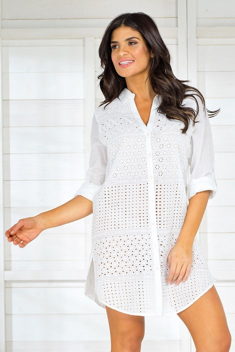 Iconique Dámské letní košilové šaty Iconique IC8001 bílá XL