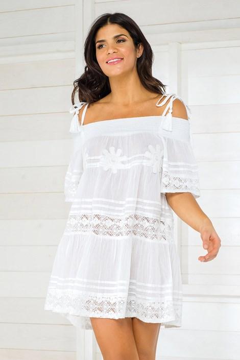 Iconique Dámské italské plážové šaty Iconique IC800 White bílá S