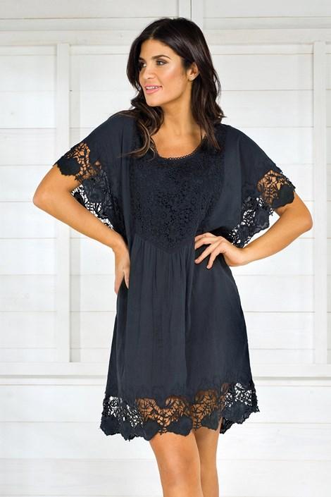 Iconique Dámské italské letní šaty Iconique IC8013 Black černá L