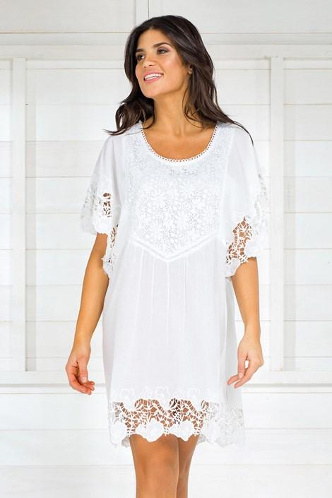 Iconique Dámské italské letní šaty Iconique IC8013 White bílá L