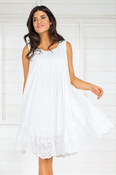Iconique Dámské italské letní šaty Iconique IC8014 bílá L