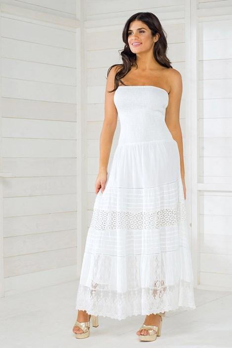 Iconique Dámské italské letní šaty Iconique IC8016 White bílá L