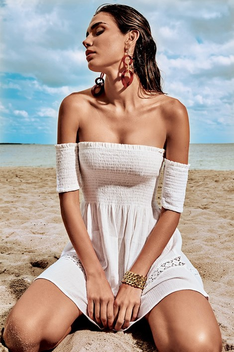 Iconique Dámské letní italské šaty Iconique IC8022 bílá M