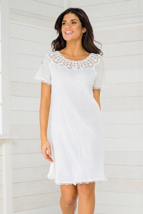 Iconique Dámské letní šaty italské kolekce Iconique IC8023 bílá S