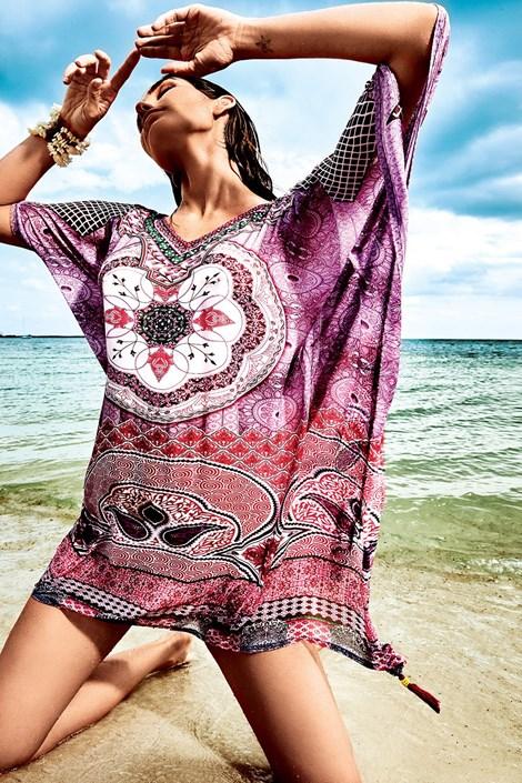 Iconique Dámské italské plážové šaty Iconique IC8107 barevná uni