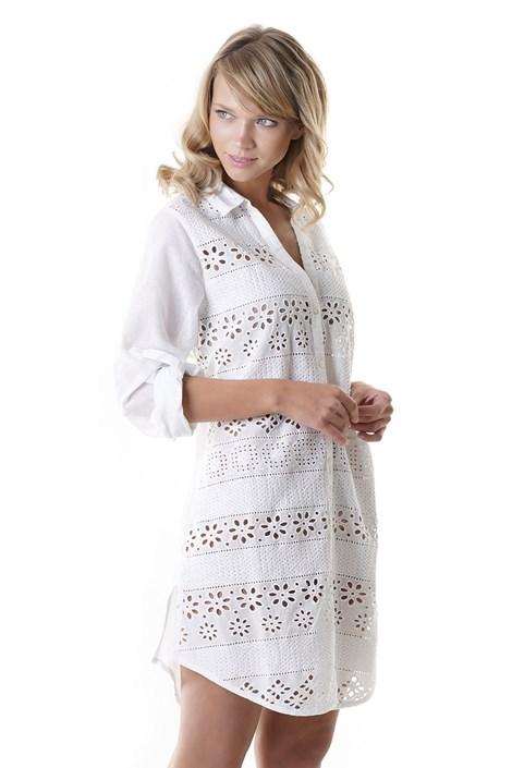 Iconique Dámské plážově šaty Angelina bílá XL