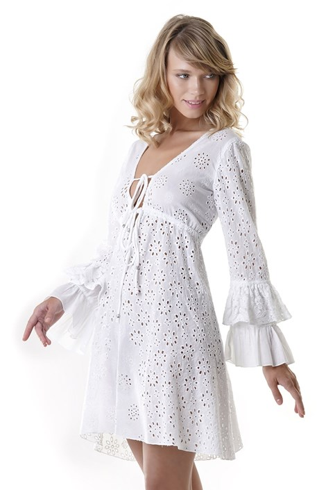 Iconique Dámské plážové šaty Laura bílá M