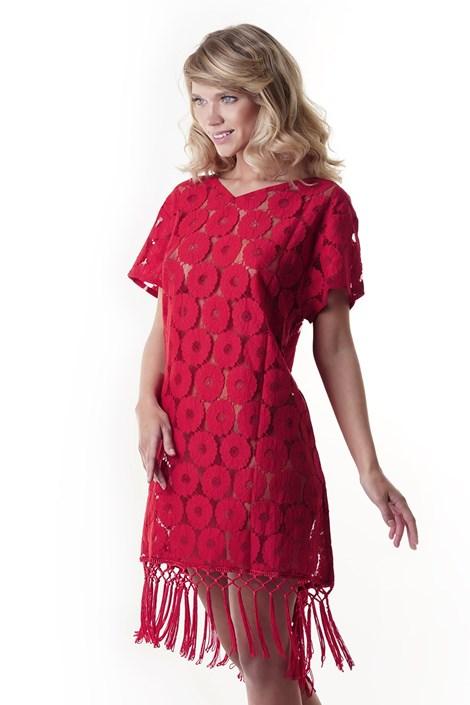 Iconique Dámské plážové šaty Elena červená S