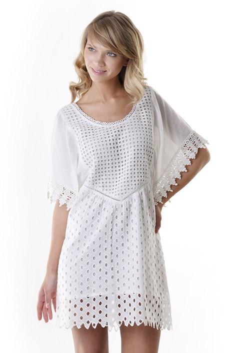Iconique Dámské plážové šaty Anna bílá S