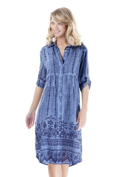 Iconique Dámské plážové šaty Giada modrá XL