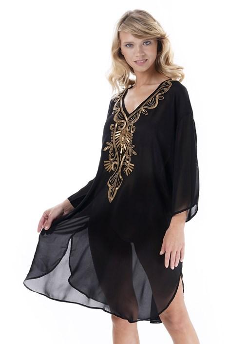 Iconique Dámské plážové šaty Georgina černá uni