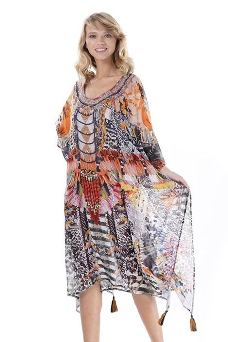 Iconique Dámské plážové šaty Giorgia barevná uni