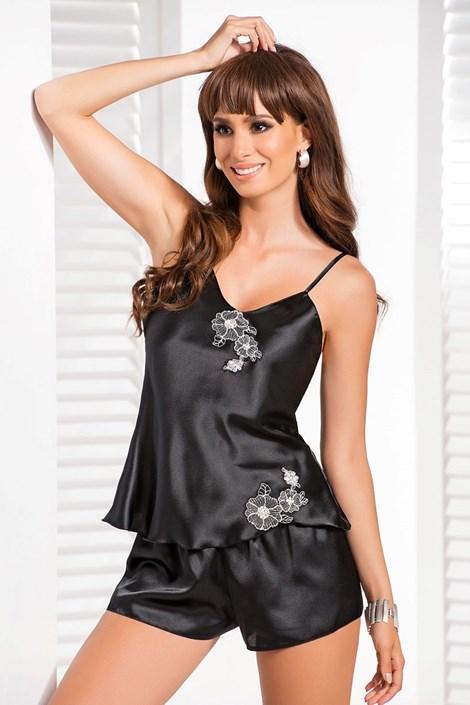 Irall Elegantní dámské pyžamo Ida černá XL
