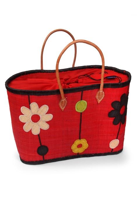Le Comptoir De La Plage Velká plážová taška Ifaty červená uni