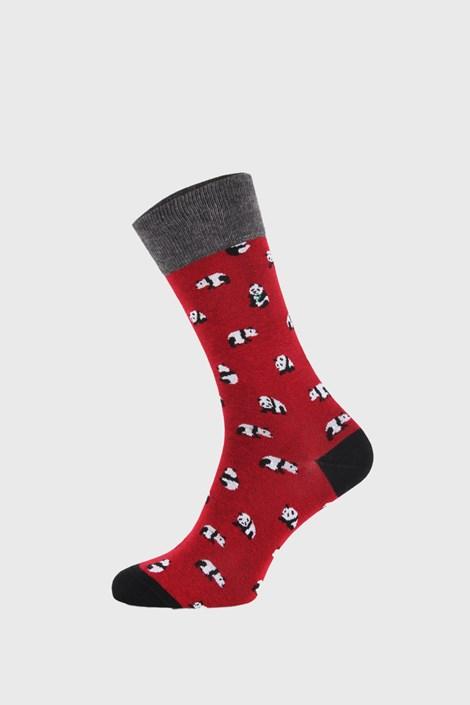 John Frank Červené ponožky Panda červená 40-45