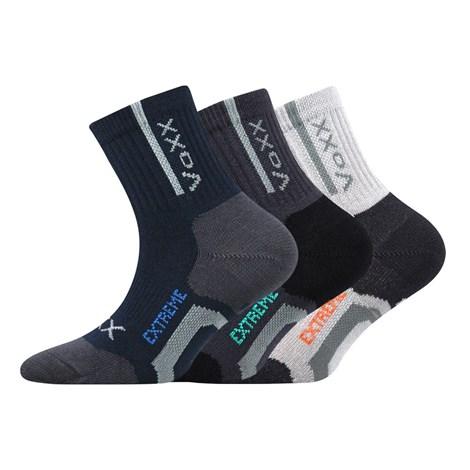 VOXX 3 pack sportovních chlapeckých ponožek Josífek barevná 35-38