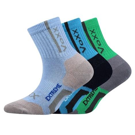 VOXX 3 pack sportovních dětských ponožek Josífek barevná 25-29