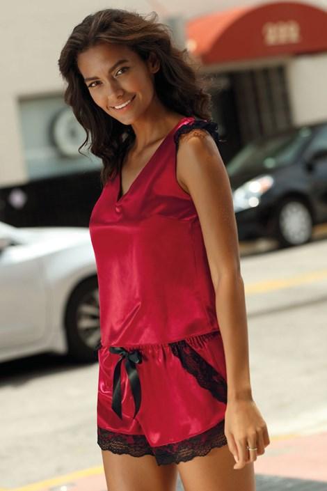 Excellent Beauty Pyžamový SET Elisse červená XL