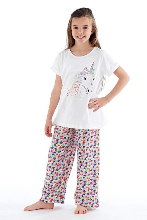 Fordville Dívčí pyžamo Polly dlouhé bílé barevná 9/10