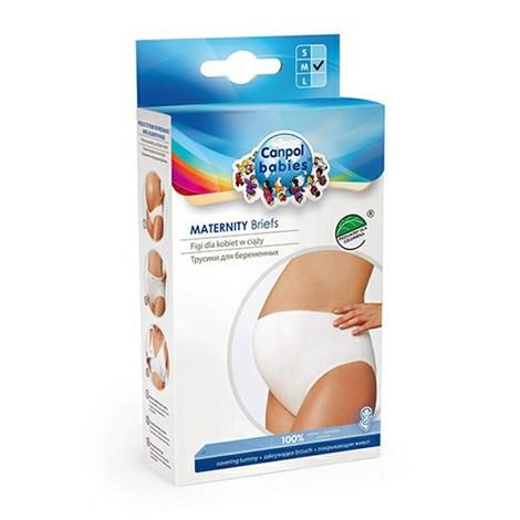 Malewo Kalhotky těhotenské vysoké bílá M