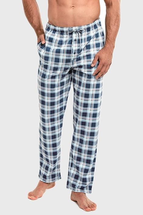Cornette Modré kostkované pyžamové kalhoty modrá XXL