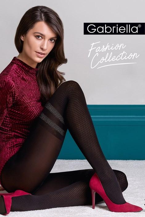 Gabriella Vzorované punčochové kalhoty Kate černá 4