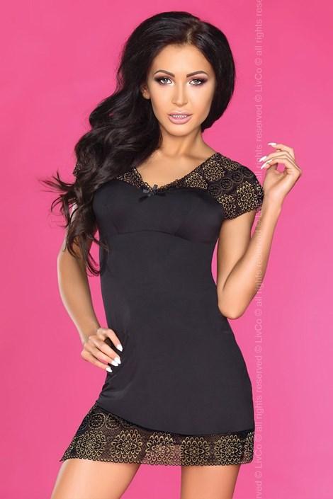 Livco Corsetti Elegantní košilka Kendra černá L/XL
