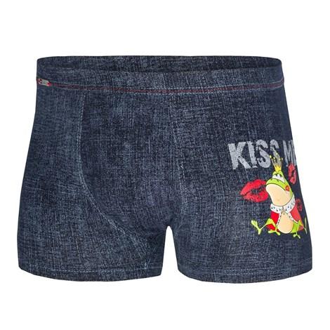 Cornette Pánské boxerky CORNETTE Kiss Me modrá XXL
