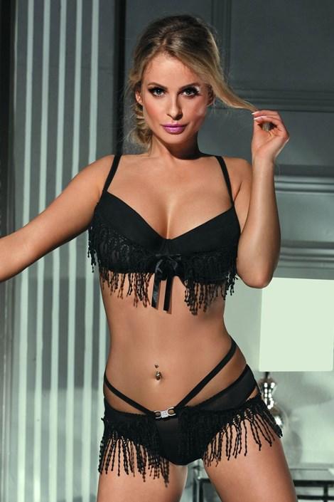 Excellent Beauty Svůdný komplet Amore černá L/XL