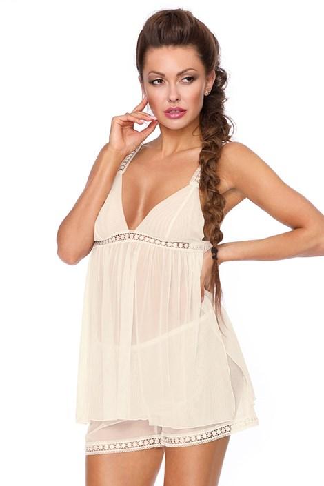 Excellent Beauty Svůdný pyžamový komplet Alyson bílá S/M