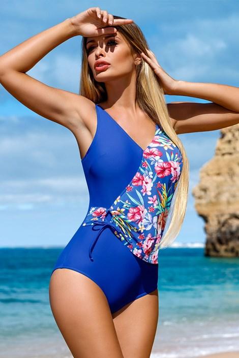 LORIN Dámské jednodílné plavky Flor modrá ... 83b8412eea