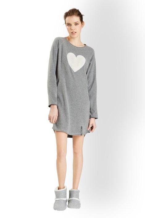 Noidinotte Dámská italská noční košile Softly šedá XL