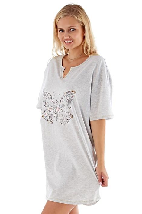 Selena Secrets Dámská noční košile Butterfly šedá 8/10