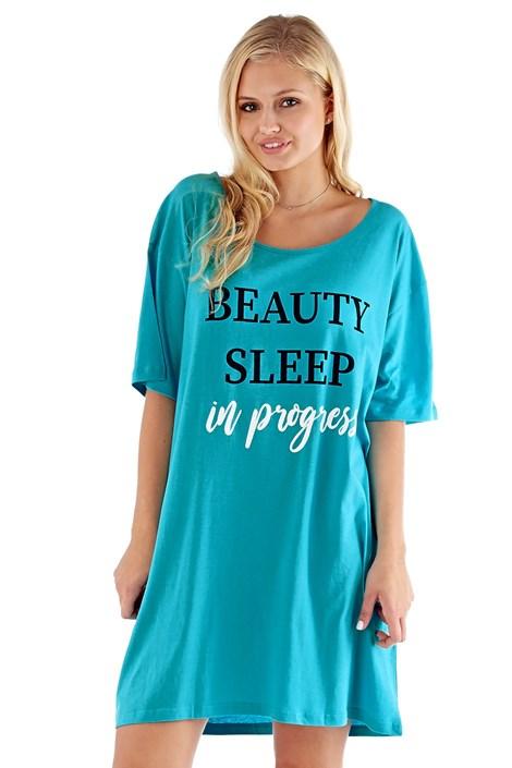 Selena Secrets Dámská noční košilka Sleep tyrkysová S/M