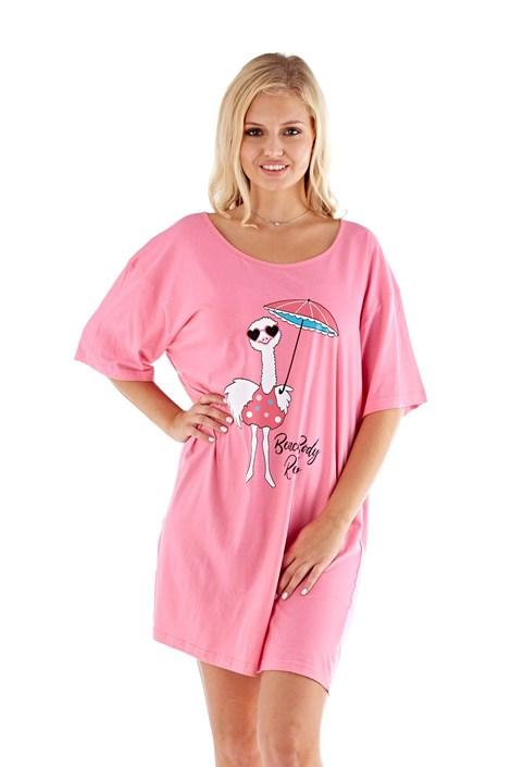 Selena Secrets Dámská noční košile Beach body růžová S/M