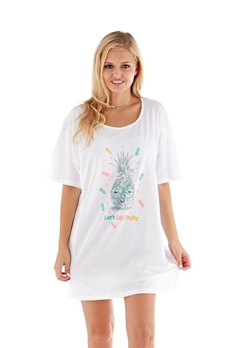 Selena Secrets Dámská noční košilka Pineapple bílá S/M