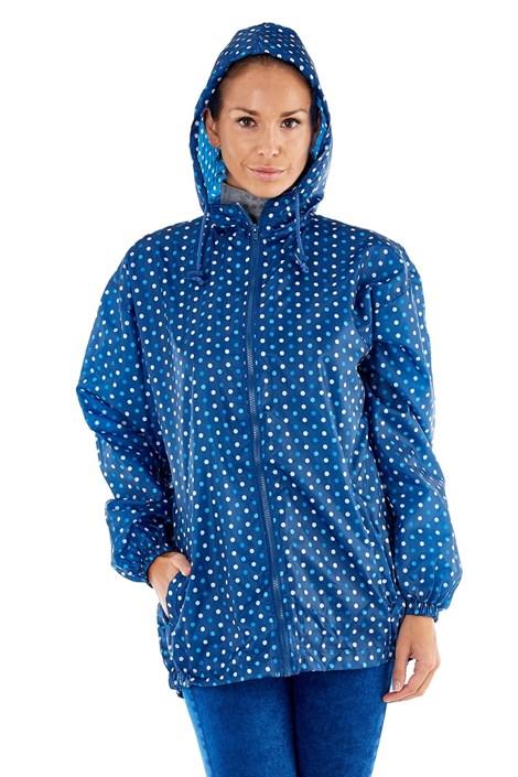 ProClimate Dámská voděodolná bunda ProClimate Puntíky modrá složená do kapsy modrá XL