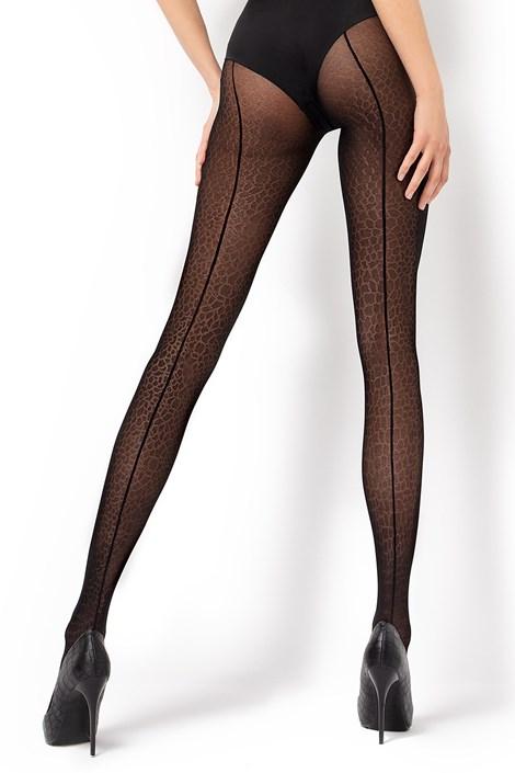 MONA Vzorované punčochové kalhoty Lara1 30 DEN černá S