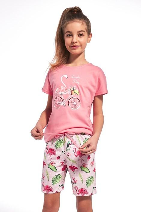 Cornette Dívčí pyžamo Lovely day růžová 98/104