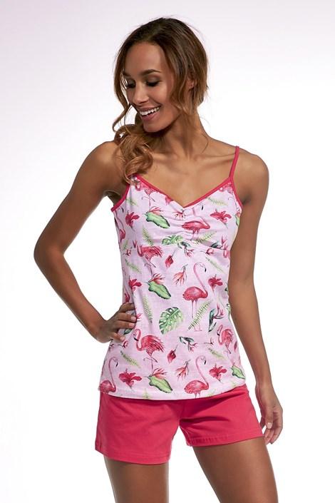 Cornette Dámské pyžamo Lovely day růžová XXL