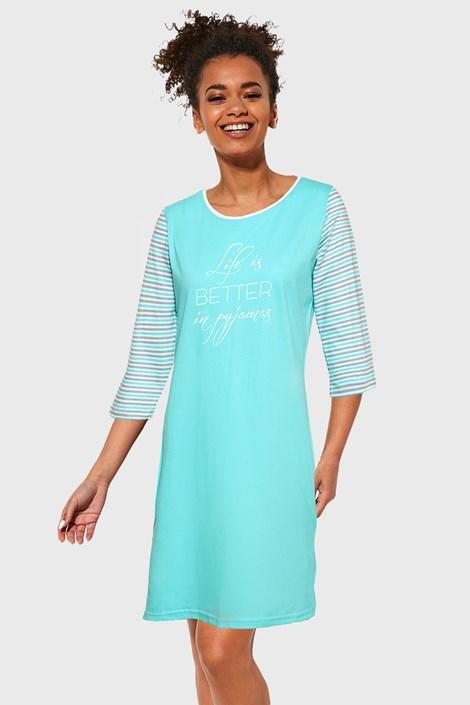 Cornette Dámská noční košile Life 3 modrá XS