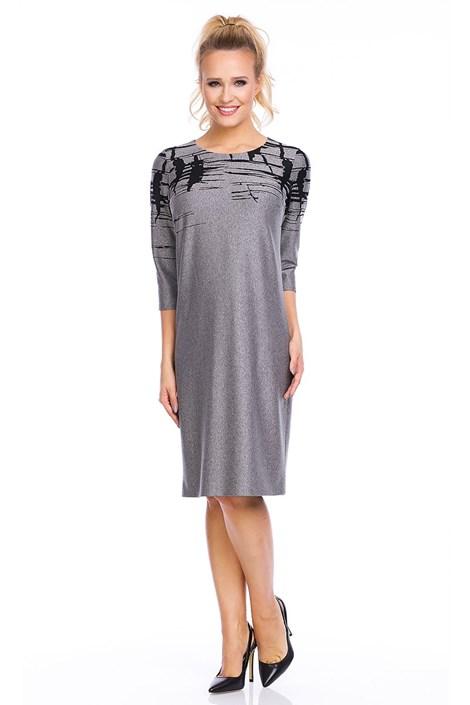Lental Elegantní dámské šaty Livia Grey šedá 38