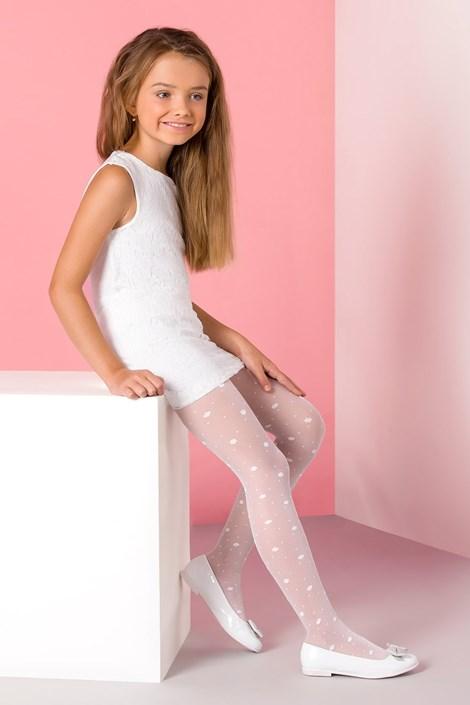 Gabriella Dívčí punčochové kalhoty Liza bílá 140-146