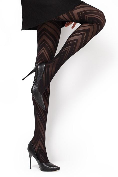 MONA Vzorované punčochové kalhoty Lola1 60 DEN černá S