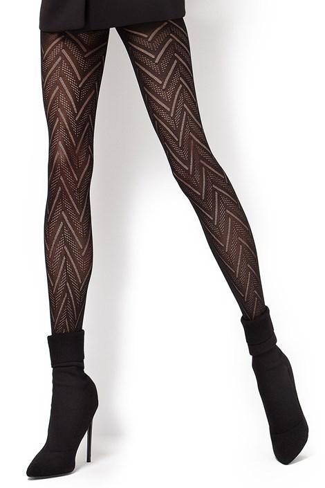 MONA Vzorované punčochové kalhoty Lola2 60 DEN černá S