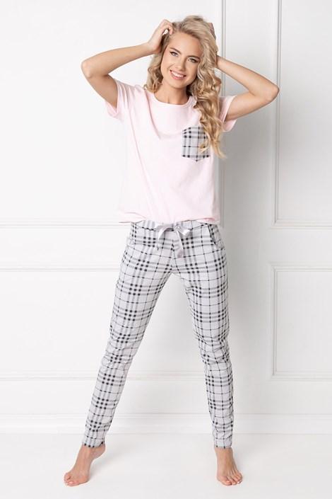 Aruelle Dámské pyžamo Londess dlouhé růžovošedá XL